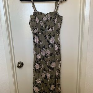 Olive & Floral AE Maxi Dress
